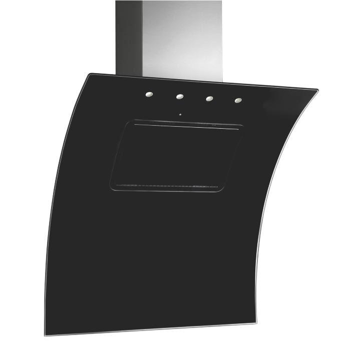 Designair EVO Black Glass Cooker Hood W 900mm