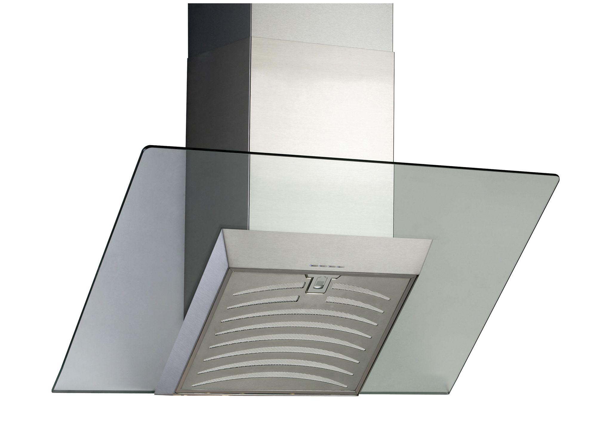designair ags70ss steel glass angled cooker hood w. Black Bedroom Furniture Sets. Home Design Ideas
