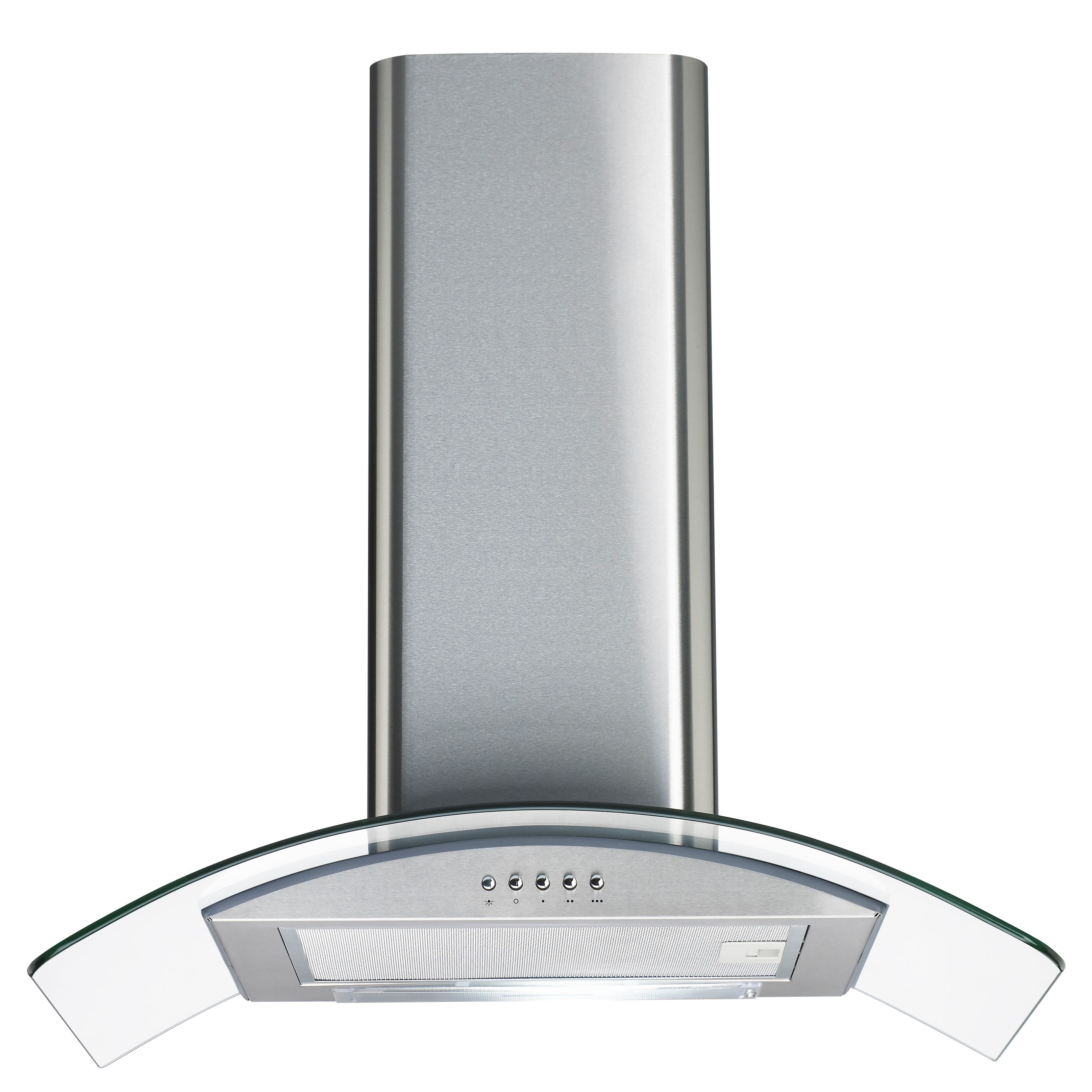 Cata cgk60ss steel glass curved cooker hood w 600mm cata cgk60ss steel glass curved cooker hood w 600mm departments diy at bq asfbconference2016 Images
