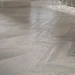 Alessano Herringbone Grey Embossed Laminate Flooring 1.39 m²
