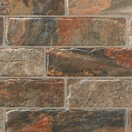 Dauco Multicolour Stone effect Plaquet brick Clay Wall