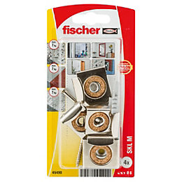 Fischer Steel Mirror Fixing (L)30mm (Dia)6mm, Pack of