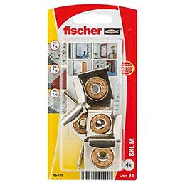 Fischer Steel Mirror fixing (L)30mm (Dia)6mm, Pack of