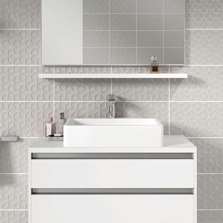 Iris Grey Ceramic Wall tile, Pack of 10,