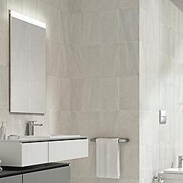 Fiji White Stone effect Ceramic Wall tile, Pack
