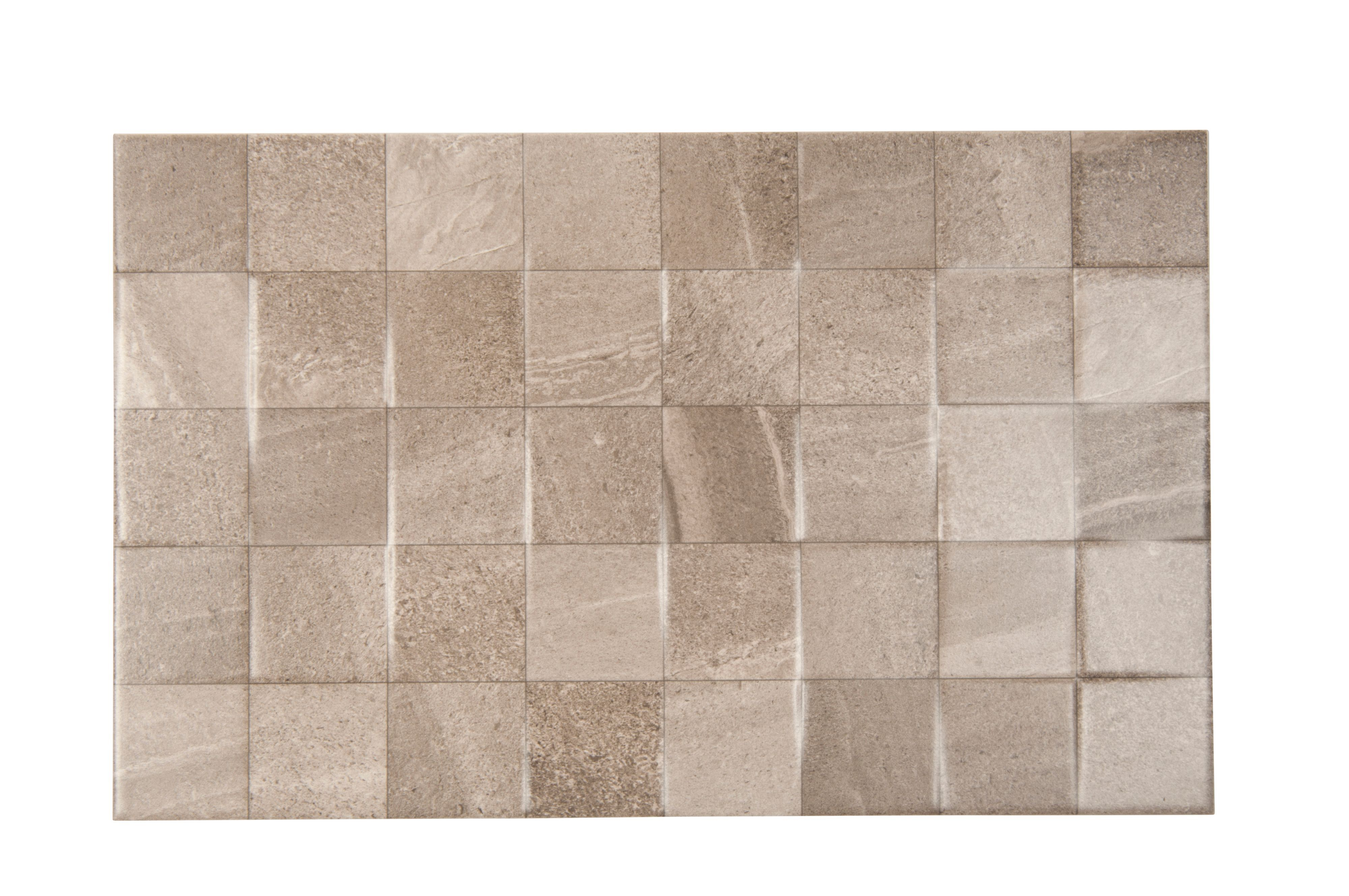 Fiji Grey Stone Effect Ceramic Wall Tile Pack Of 10 L