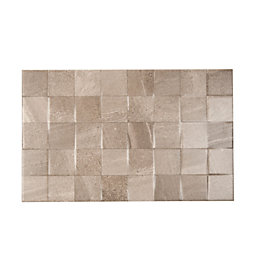 Fiji Grey Stone Effect Ceramic Wall Tile, Pack