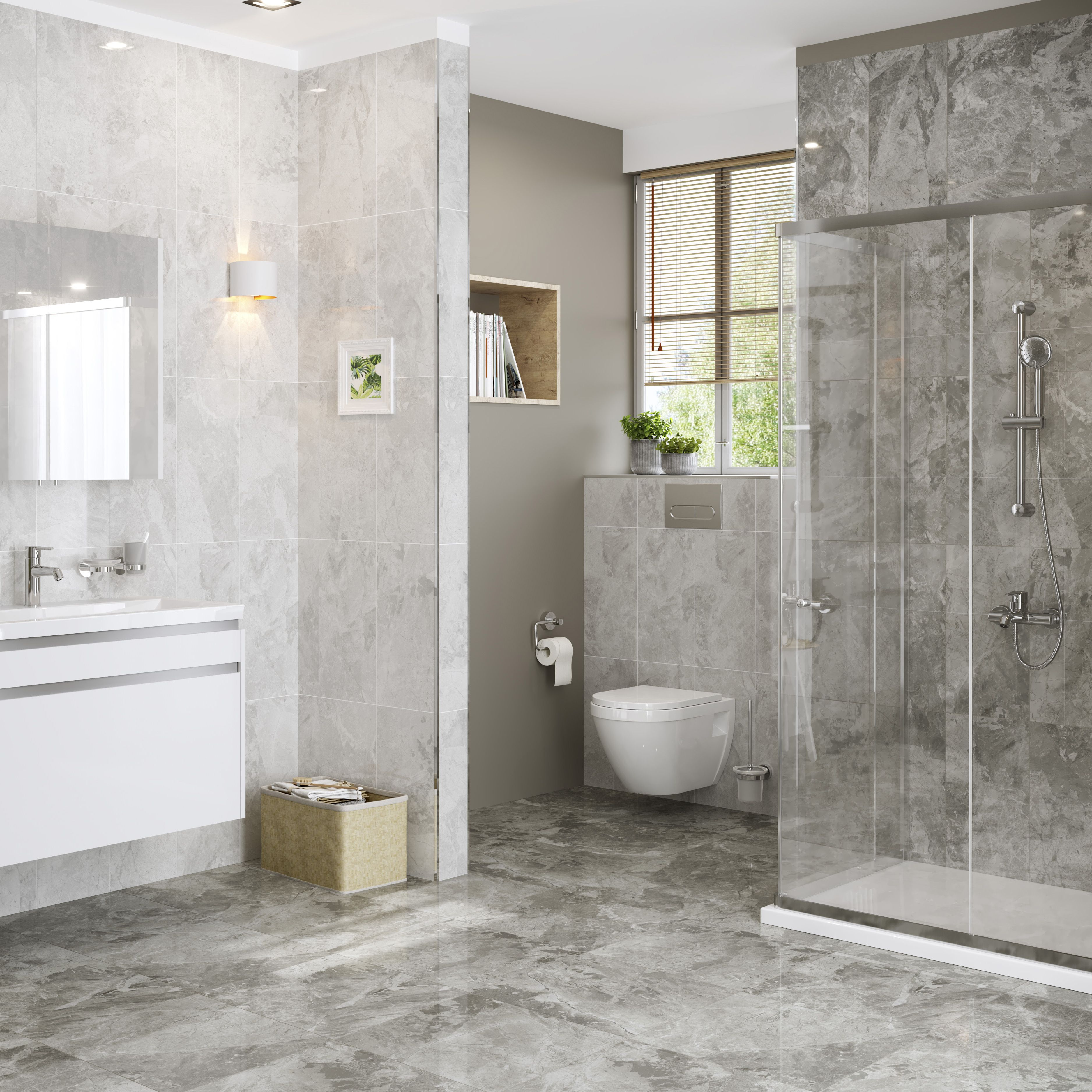 Marble Effect Ceramic Wall Tile
