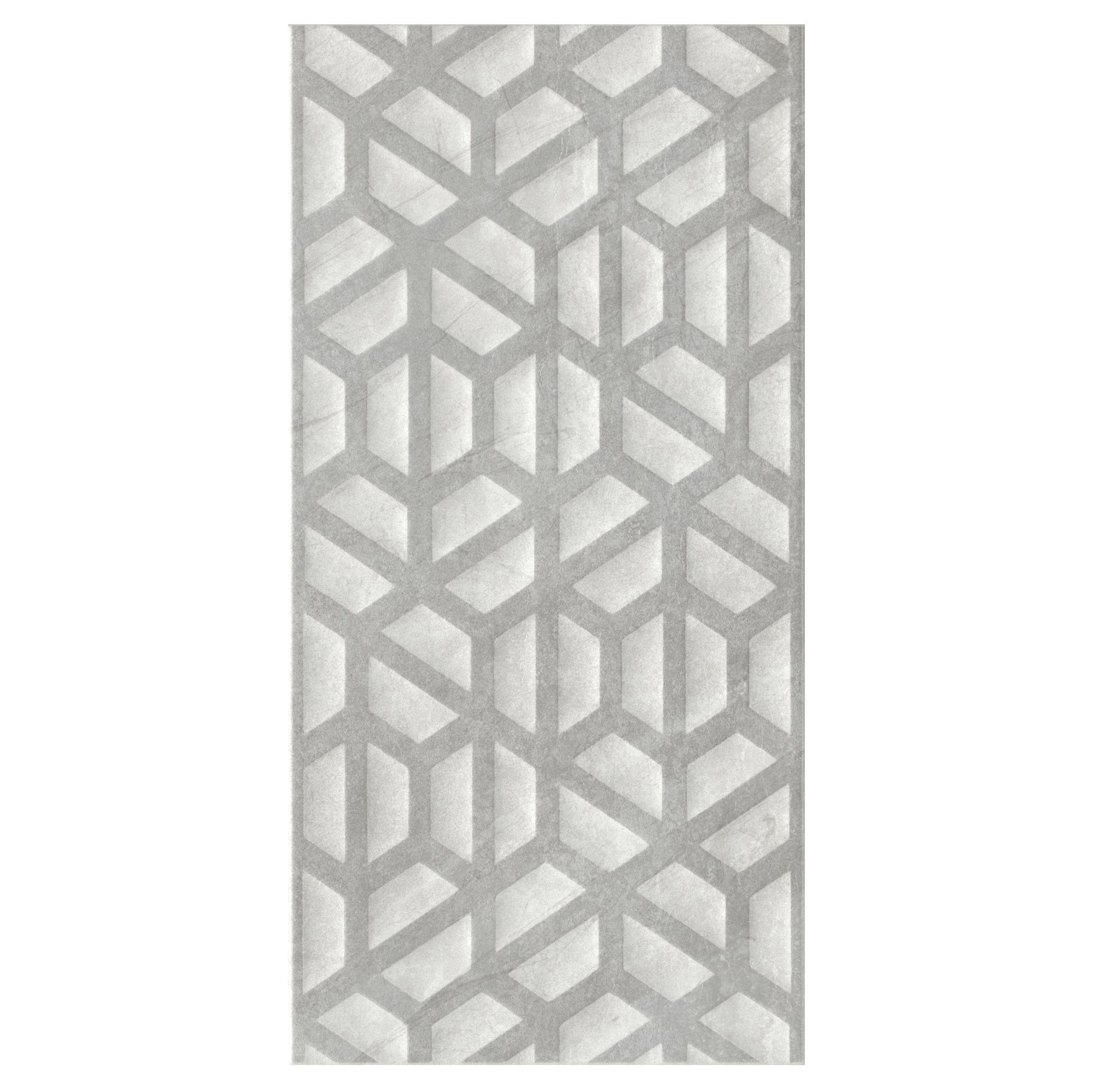 Manhattan Grey Matt Ceramic Wall Tile Pack Of 5 L 600mm W 300mm Departments Diy At B Q