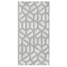 Manhattan Grey Moroccan Ceramic Wall tile, Pack of