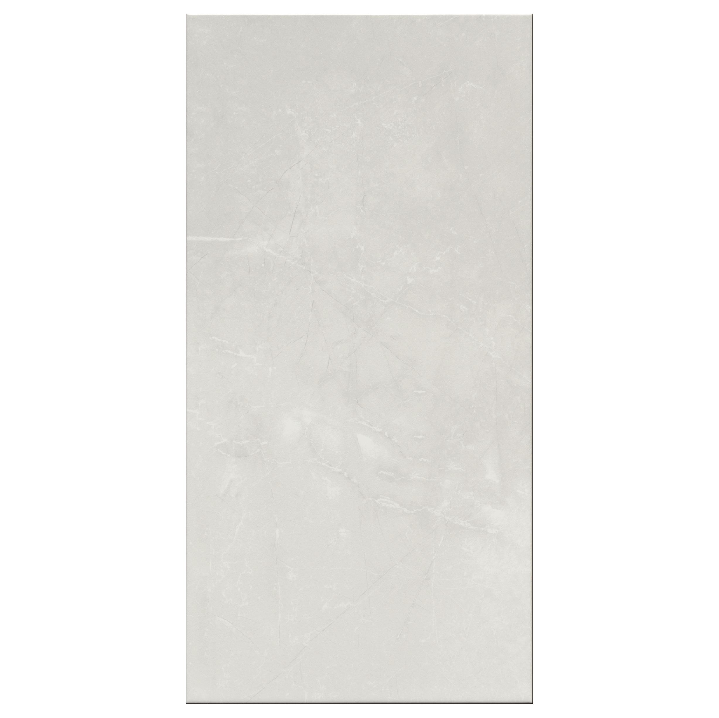 Perouso White Gloss Ceramic Wall Tile Pack Of 6 L 600mm: Memphis White Gloss Marble Effect Ceramic Wall Tile, Pack