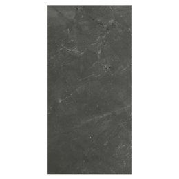 Memphis Anthracite Marble effect Ceramic Wall tile, Pack