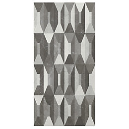Memphis Black & white Harliquin effect Ceramic Wall