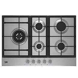 Beko HQAW 75225 SX 5 Burner Grey Stainless