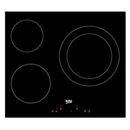 Beko HQC 63402 E 3 Burner Black Glass