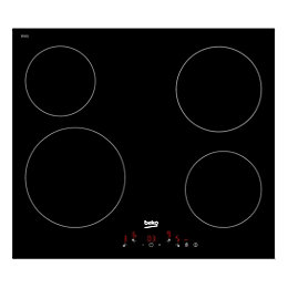 Beko HQC 64401 4 Burner Black Glass Ceramic