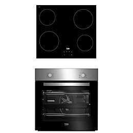 Beko QSE222X Black Single Multifunction Oven & Ceramic