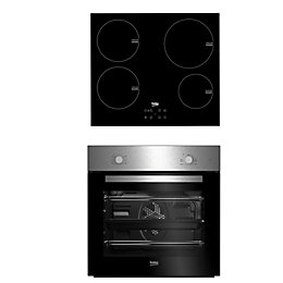 Beko QSE224X Black & Stainless Steel Single Multifunction