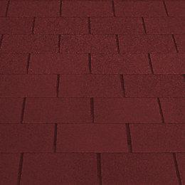 Red Roof felt shingle (L)1m (W)330mm