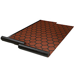 Red Shingle patterned Roofing felt (L)8m (W)1000mm