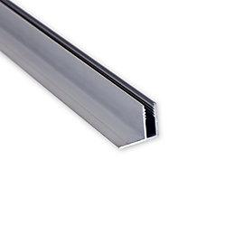 Aluminium Roofing edging strip (W)160mm (L)4m