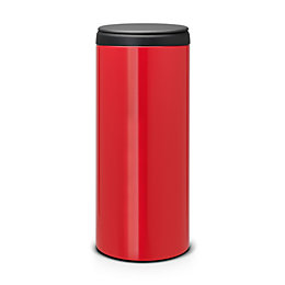 Brabantia Gloss Red Metal Round Flip Top Kitchen