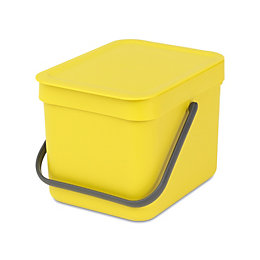 Brabantia Sort & Go Yellow Plastic Square Waste