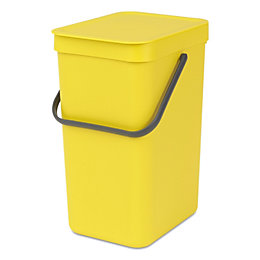 Brabantia Sort & Go Yellow Plastic Rectangular Waste