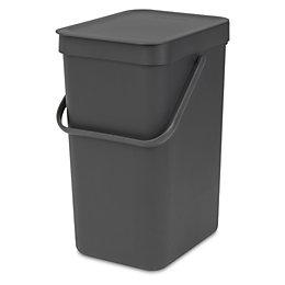 Brabantia Hinge lid Grey Plastic Rectangular Waste bin,