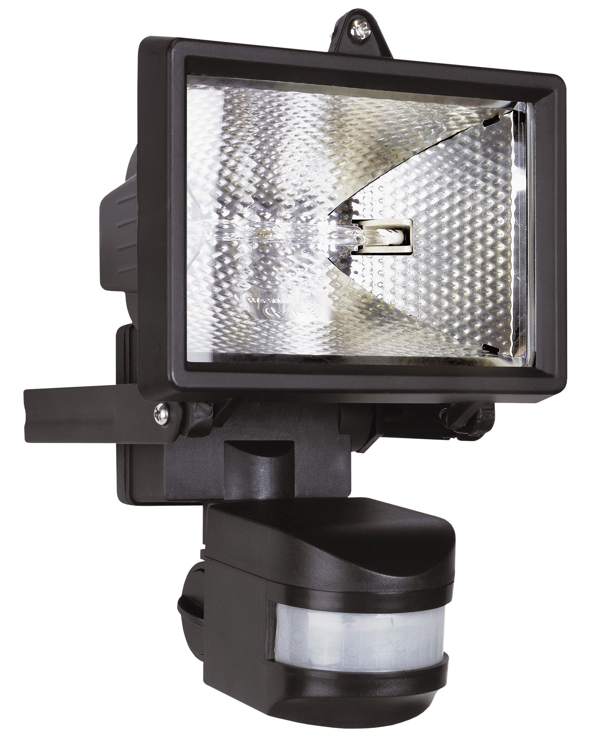 Outdoor Security Lights B Q: Elro Black 120W Mains Powered External Pir Security Light