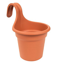 Easy Hanger Plastic Terracotta Single Planter (H)257mm (Dia)262mm