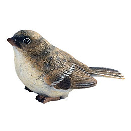 Sitting Female Sparrow Garden Ornament