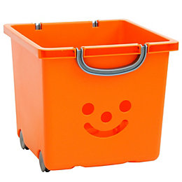 Children's smiley Orange 30.6L Plastic Stackable Storage
