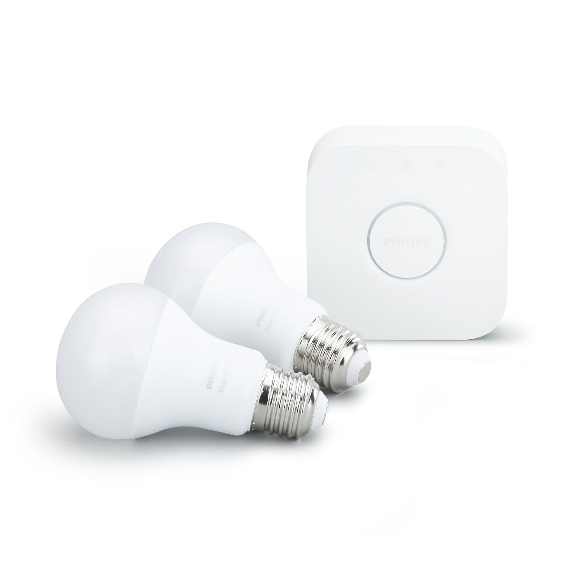 Philips Hue LED Smart Light Bulb Starter Pack with Bridge ...