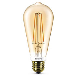 Philips E27 630lm LED Dimmable St64 Light Bulb
