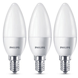 Philips E14 470lm LED Candle Light Bulb, Pack