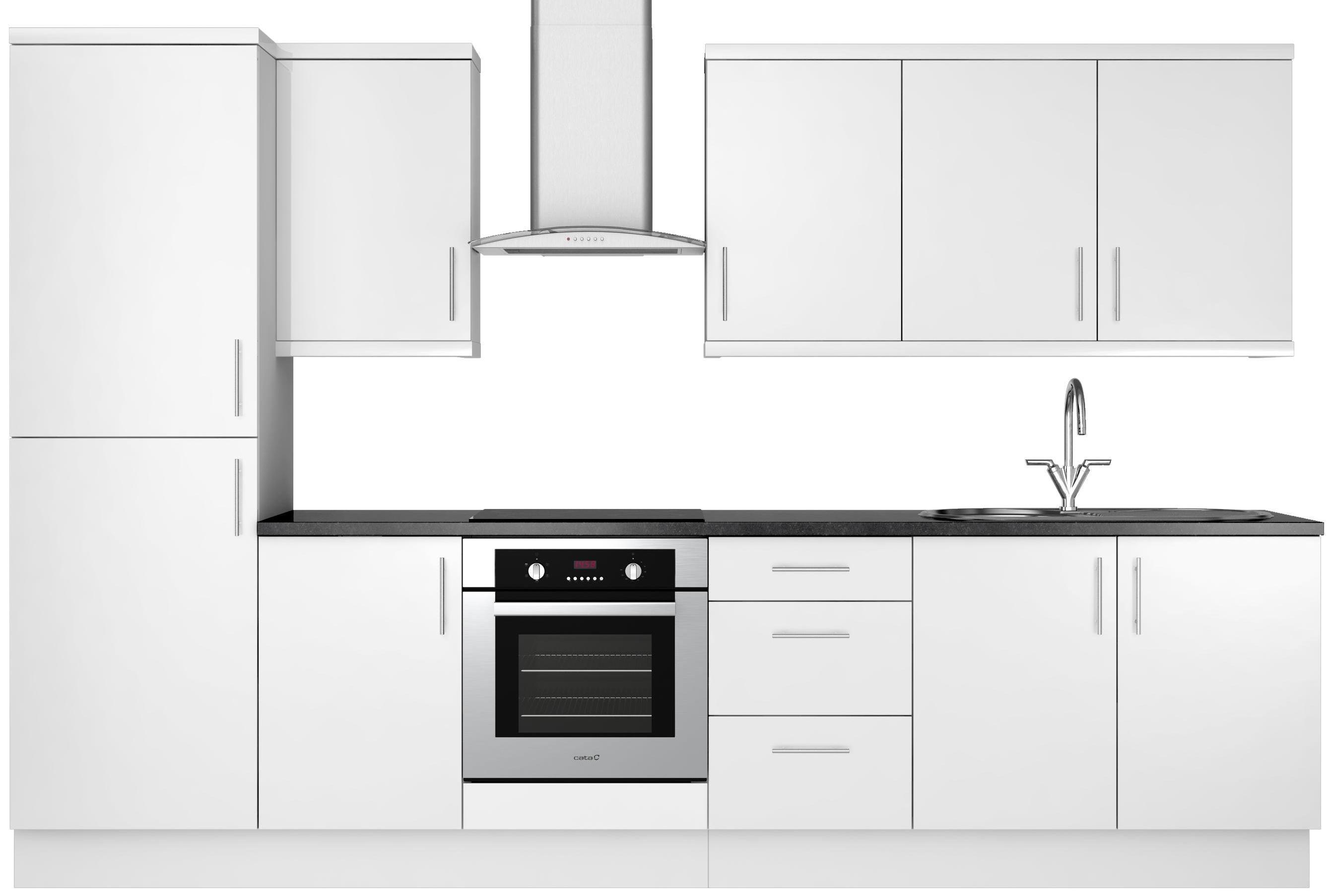 Our Kitchen Ranges White Gloss Slab Diy At B Q