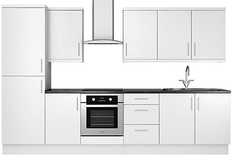 Image of White Gloss Slab 8 unit example