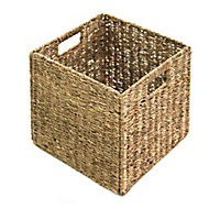 8L Seagrass Foldable Storage basket (H)300mm (W)300mm