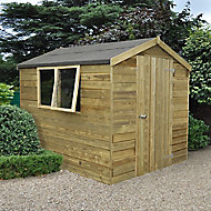 8x6 Apex Tongue & groove Wooden Shed - Assembly service included