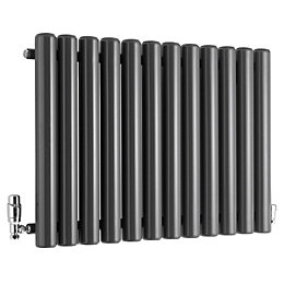 Ximax Vulkan Horizontal Radiator Anthracite (H)600 mm (W)885