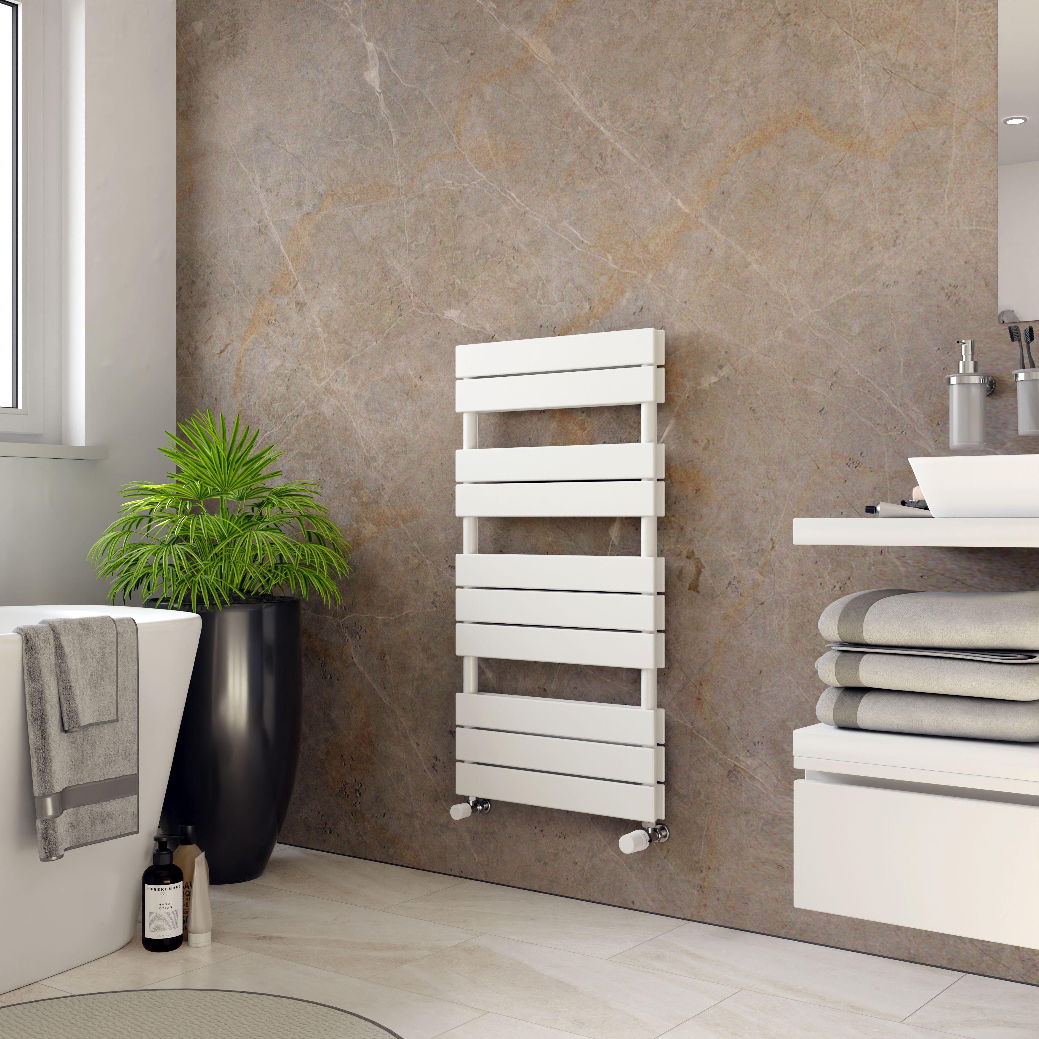 Ximax White Panel radiator (H)970mm (W)500mm