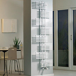 Ximax Parallel-Rail White Towel Warmer (H)1760mm (W)650mm