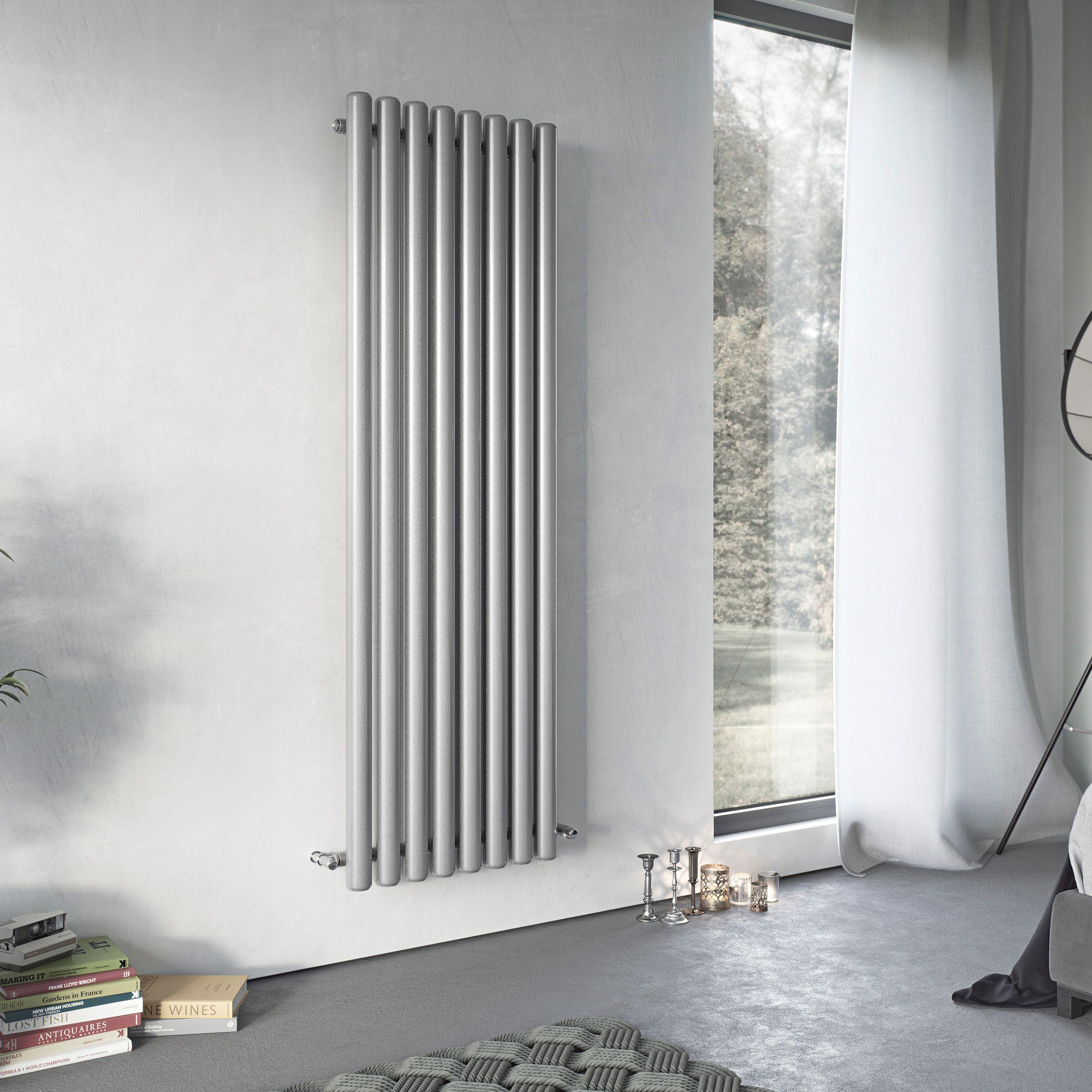 Ximax Vulkan Vertical Radiator Grey (H)1800 mm (W)435