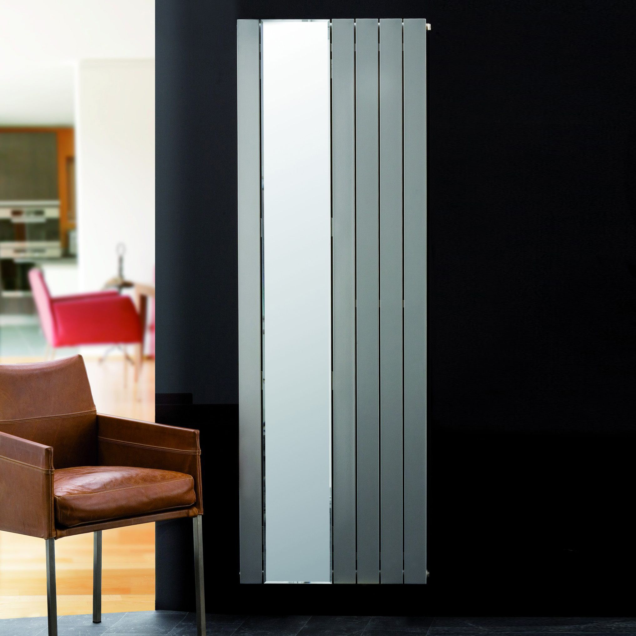Ximax Vertirad Mirror Vertical Radiator Silver (H)1800 mm