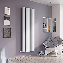 Ximax Vulkan Square Vertical Radiator White (H)600 mm