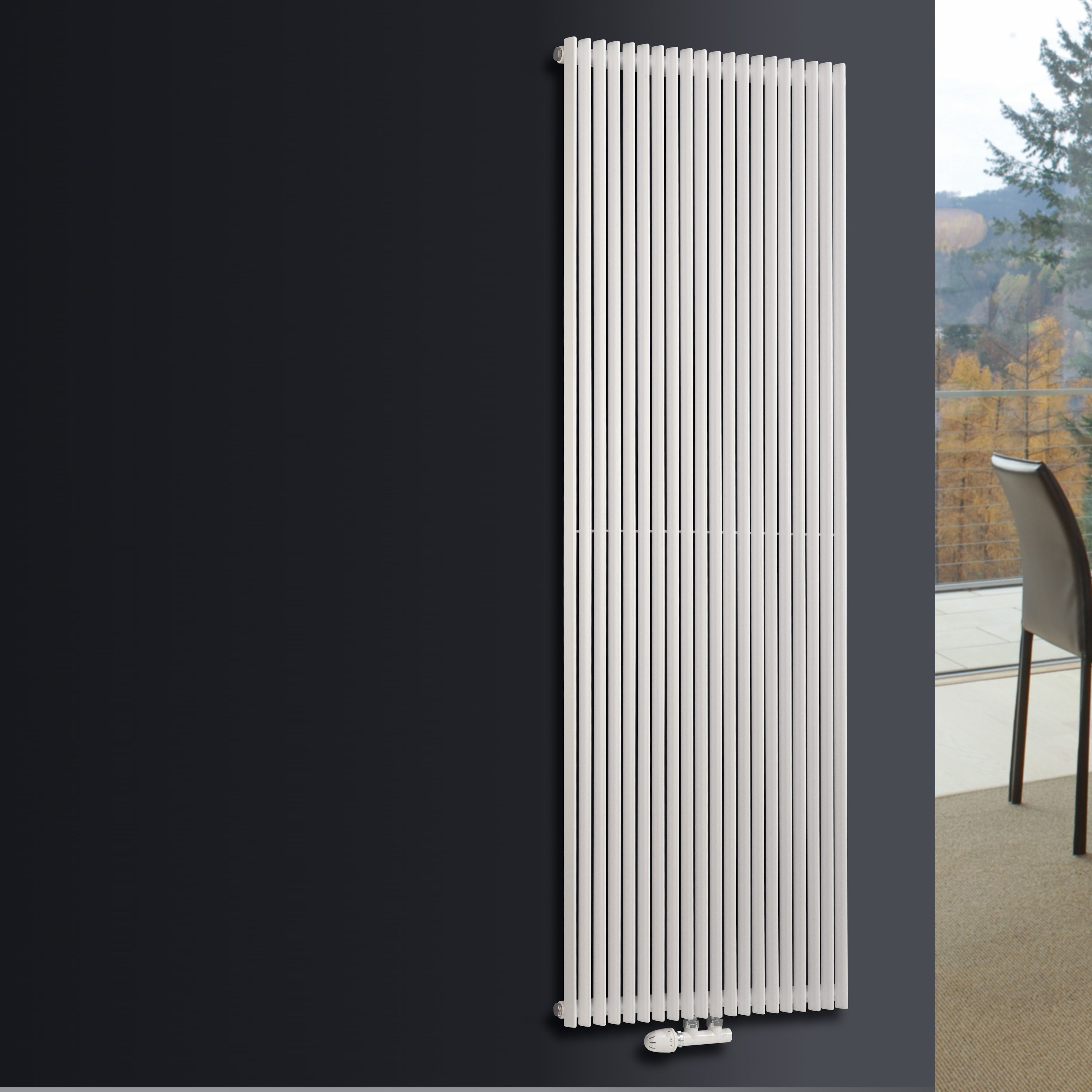 Ximax Triton Vertical Radiator White (H)1800 Mm (W)300 Mm -