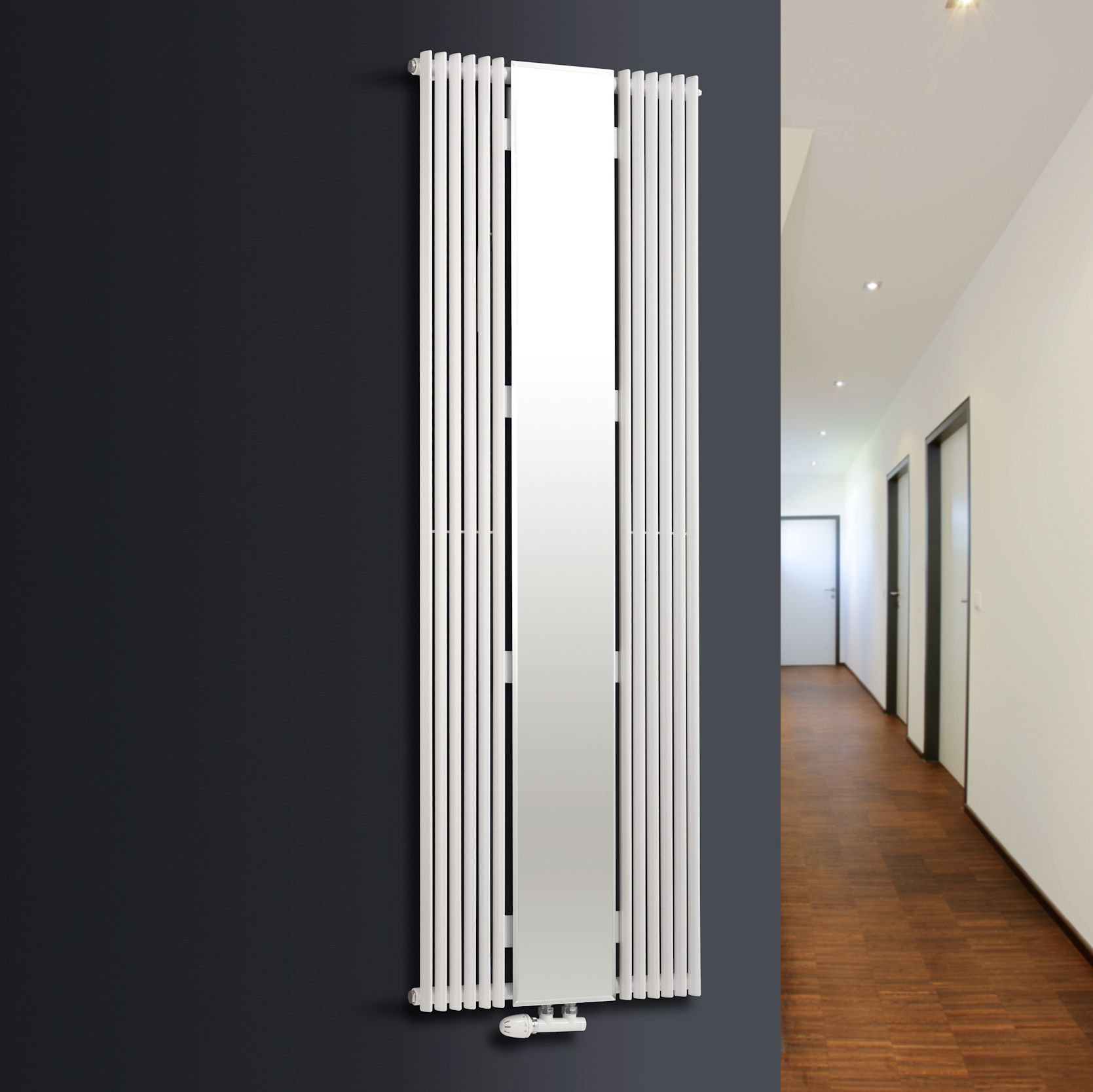 Ximax Vertical Tube radiator White (H)1800 mm (W)600