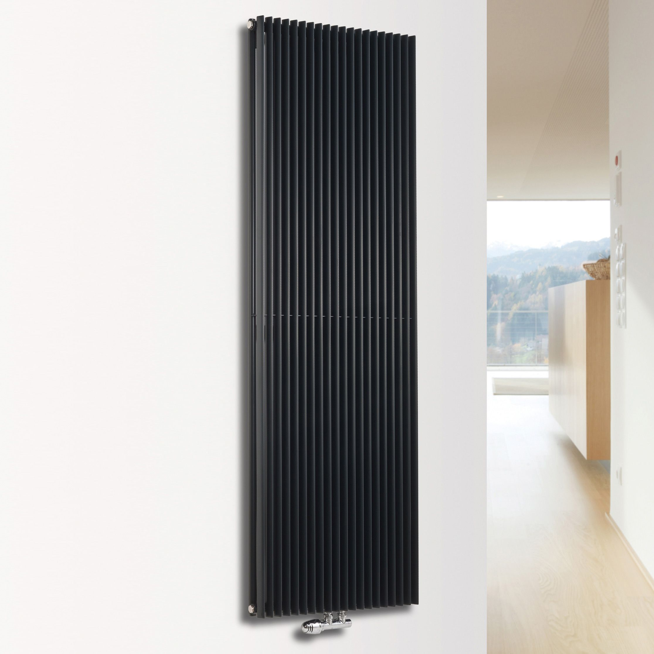 Ximax Triton Duplex Vertical Radiator Anthracite (H)1800 mm