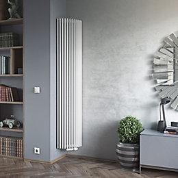 Ximax Triton Semi-Circle Vertical Radiator White (H)1800 mm